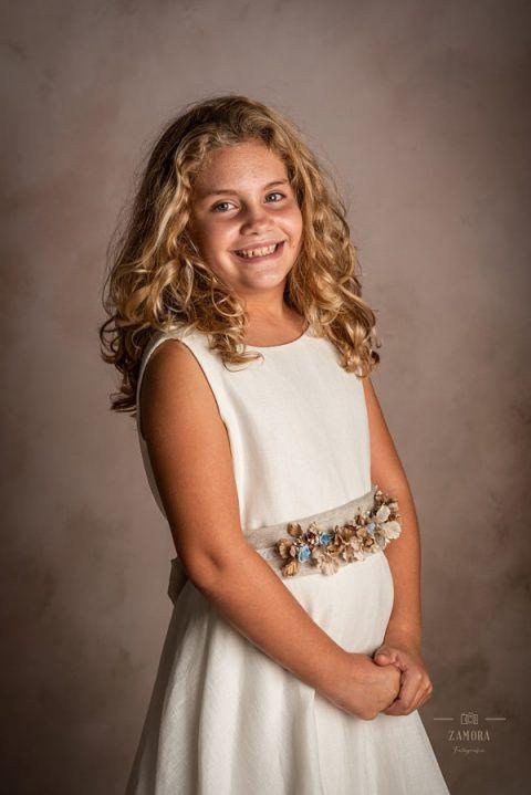 Vestido de comunión lino y falda lino Precio 295€