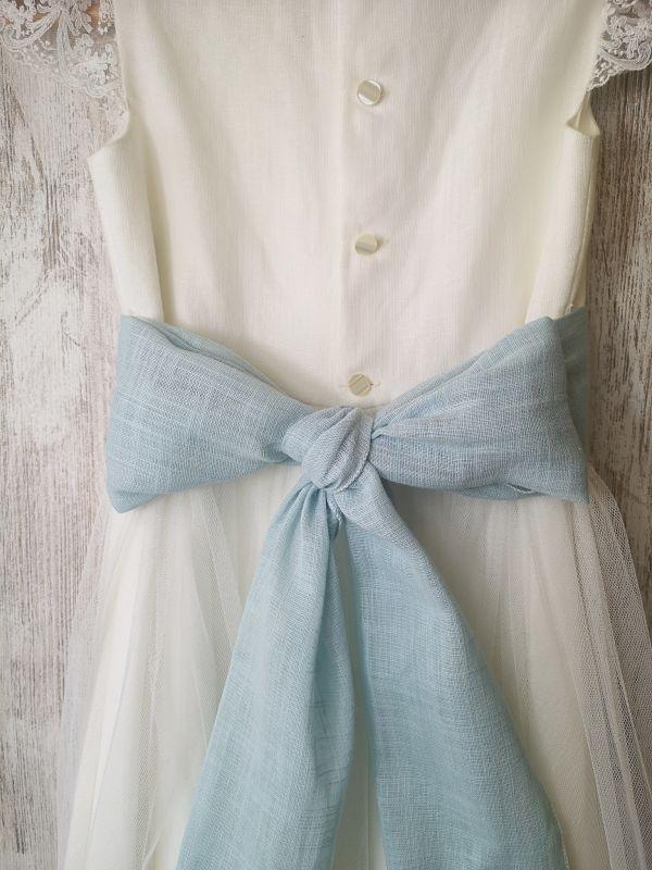 lazada azul para vestido de comunión Aliana