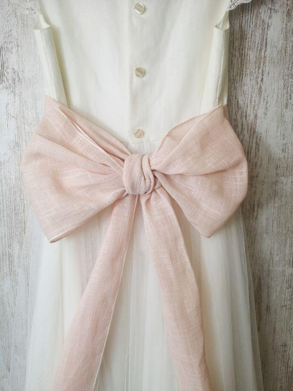 lazada color rosa para vestido de comunión Aliana