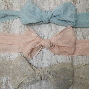 Lazadas para vestido de comunión hechas a mano Aliana